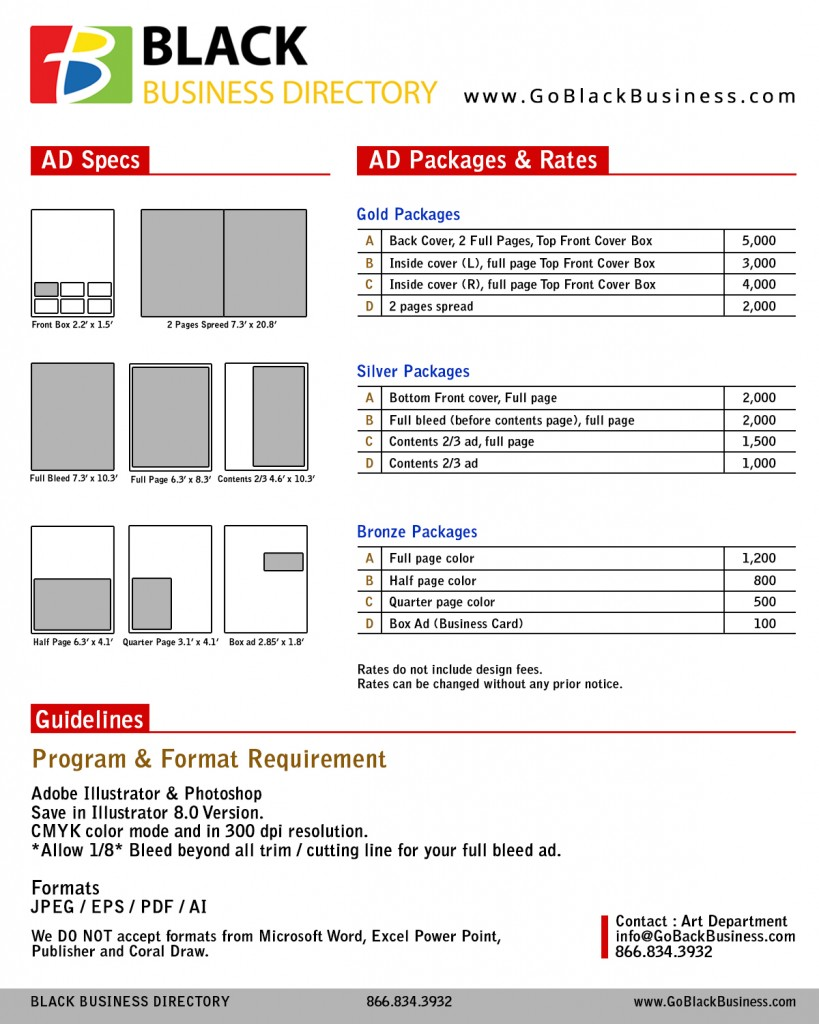 Updated Print Ad Rates